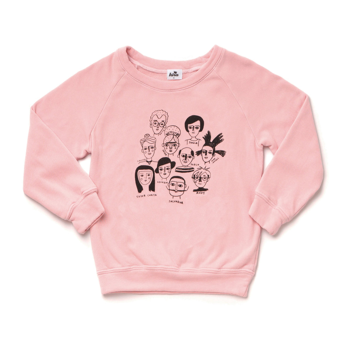 Adult Artists in History Graphic Raglan Sweatshirt, Blush