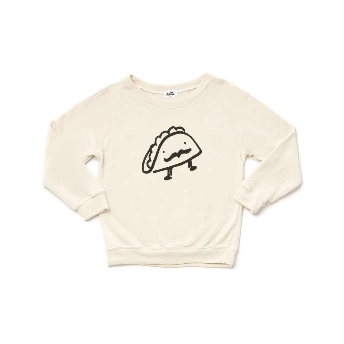 Taco Graphic Raglan Sweatshirt, Natural