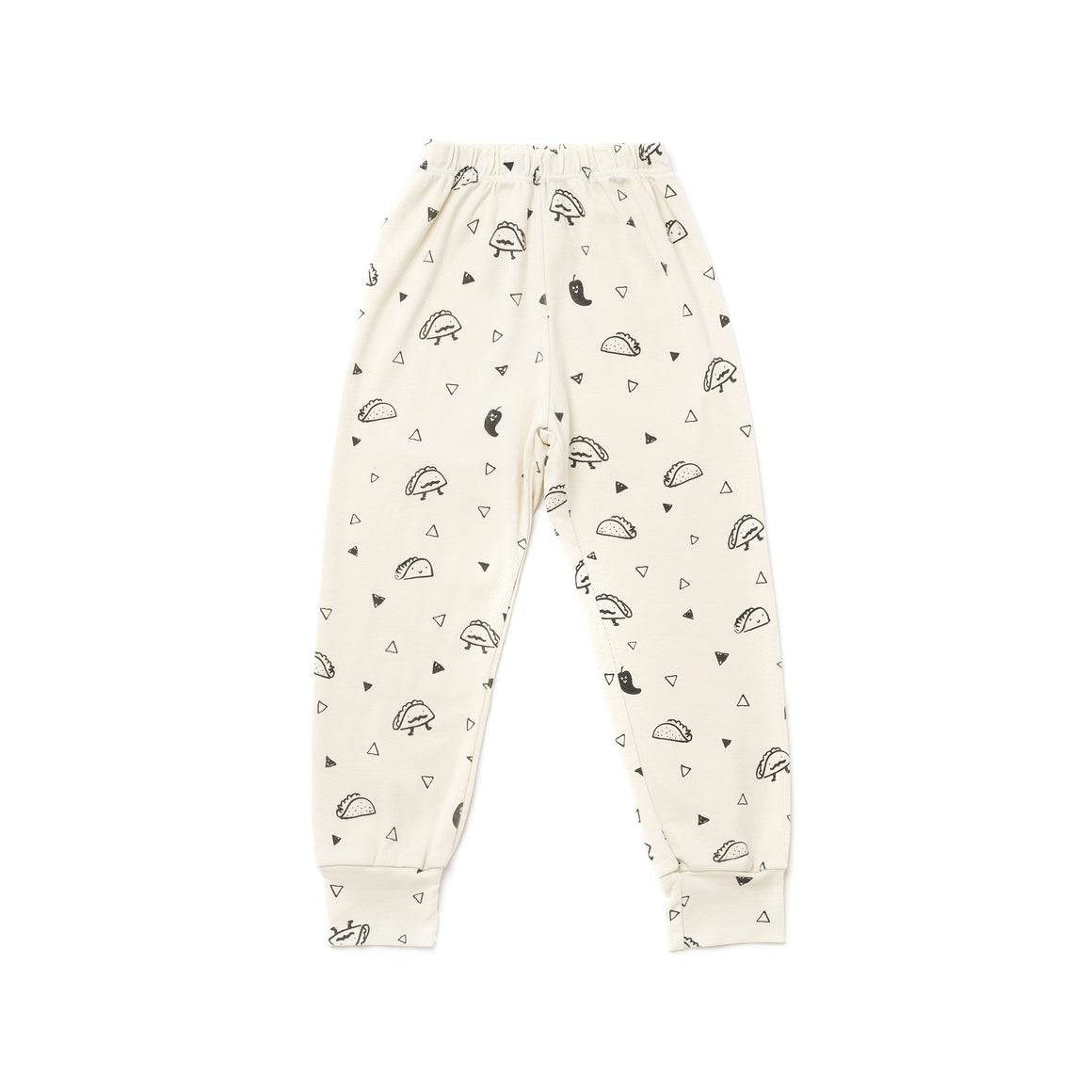Taco Print Bubble Pants, Natural