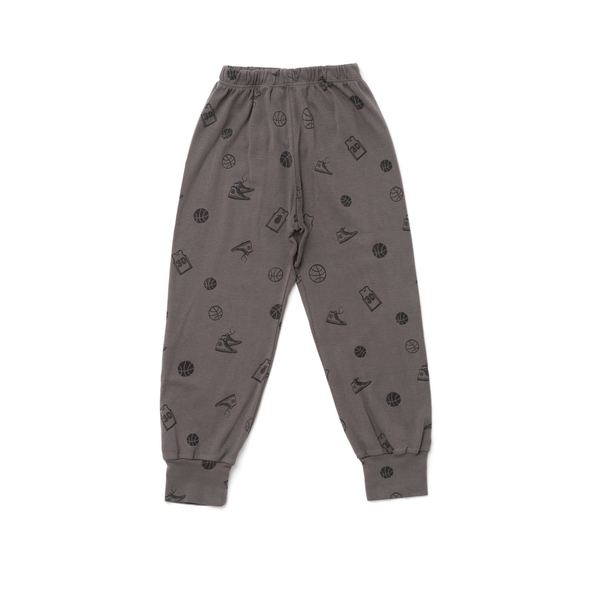 Basketball Print Bubble Leggings, Slate Grey