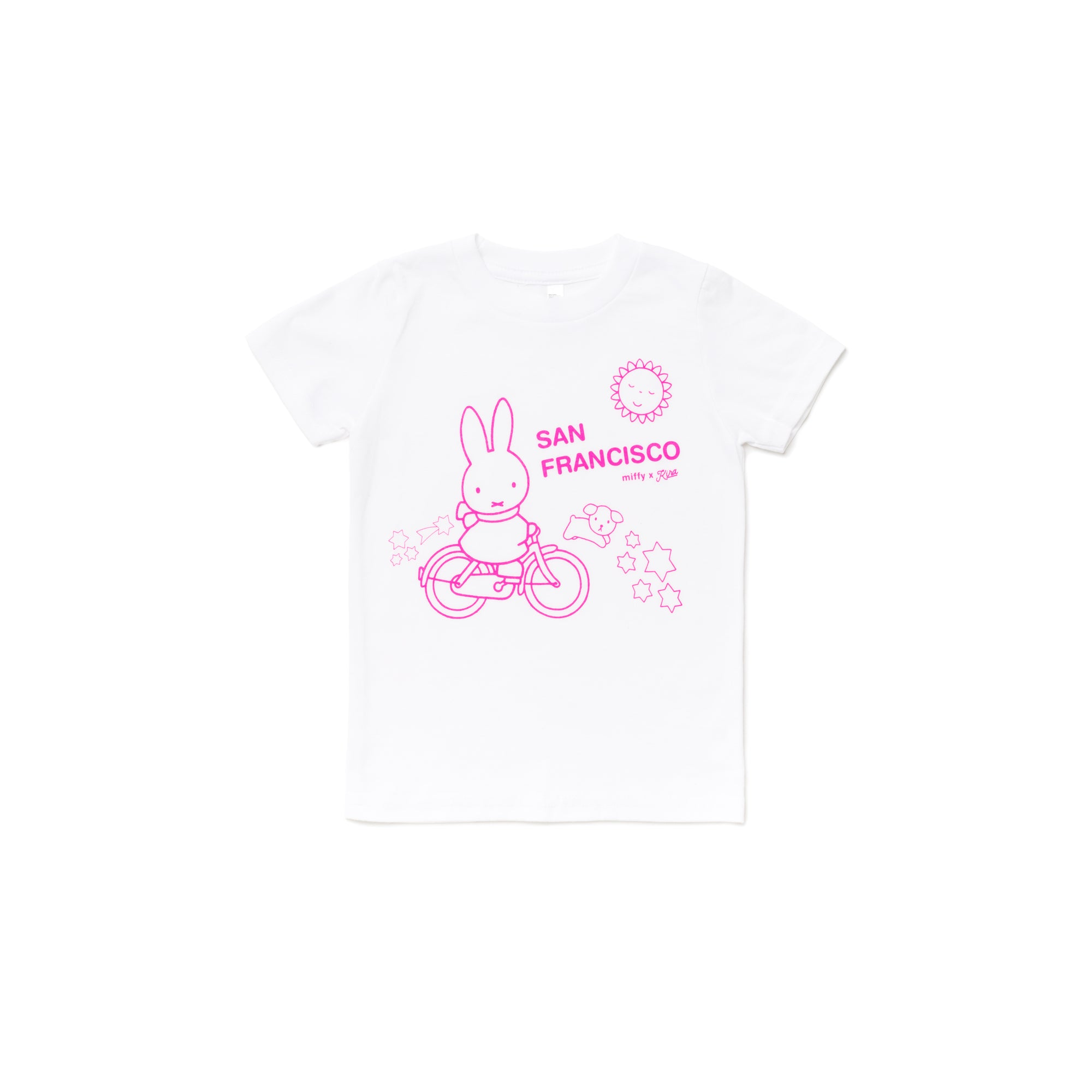 Miffy x Kira Bike SF T-shirt, White