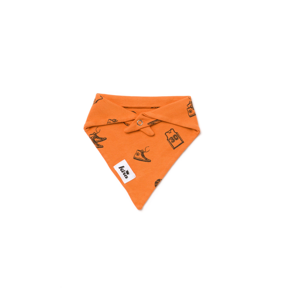 Basketball Print Bandana Bib, Copper