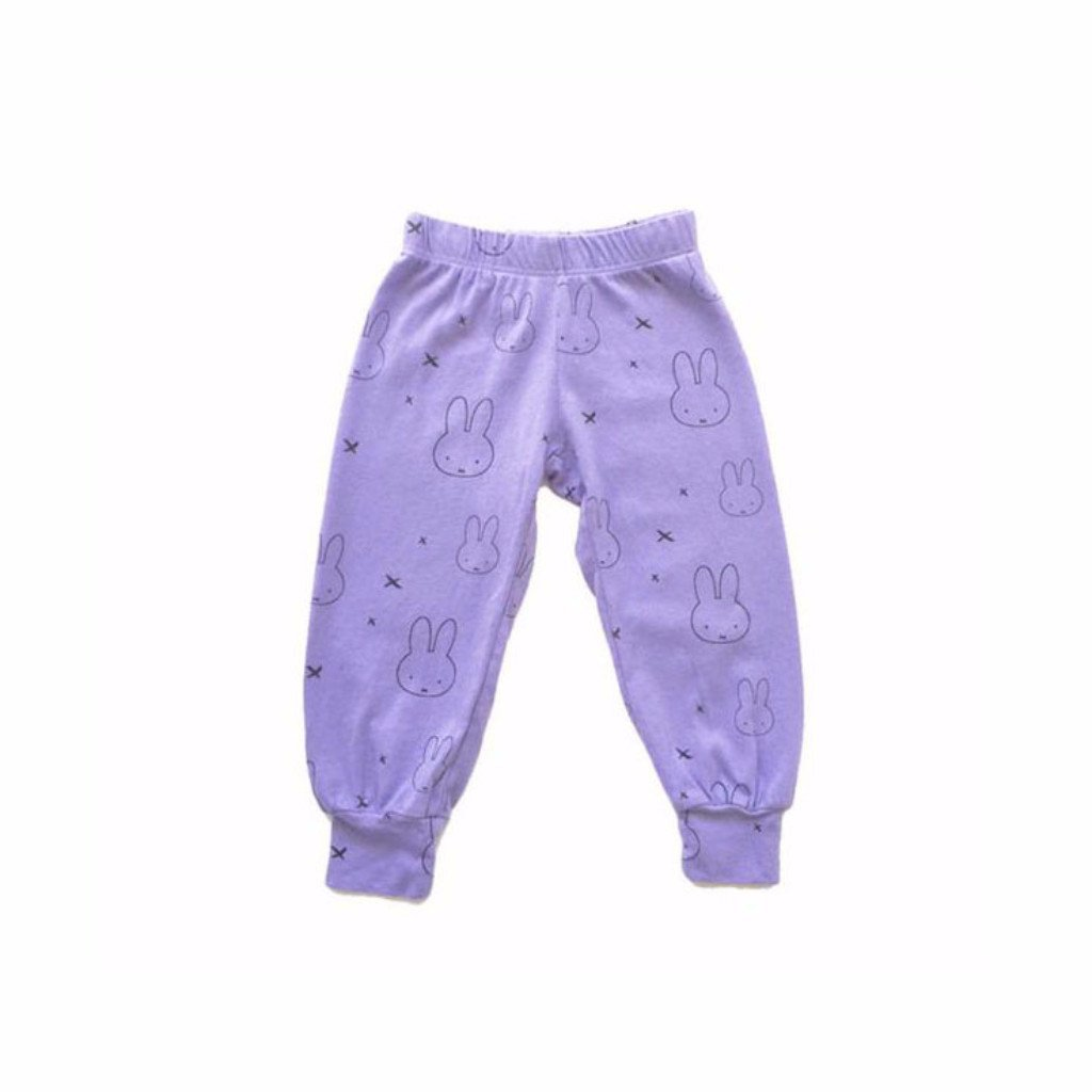 Miffy Print Bubble Pants, Purple