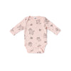 Poodle Long Sleeve Onesie, Powder Pink