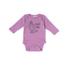 Oui Oui Long Sleeve Onesie, Grape