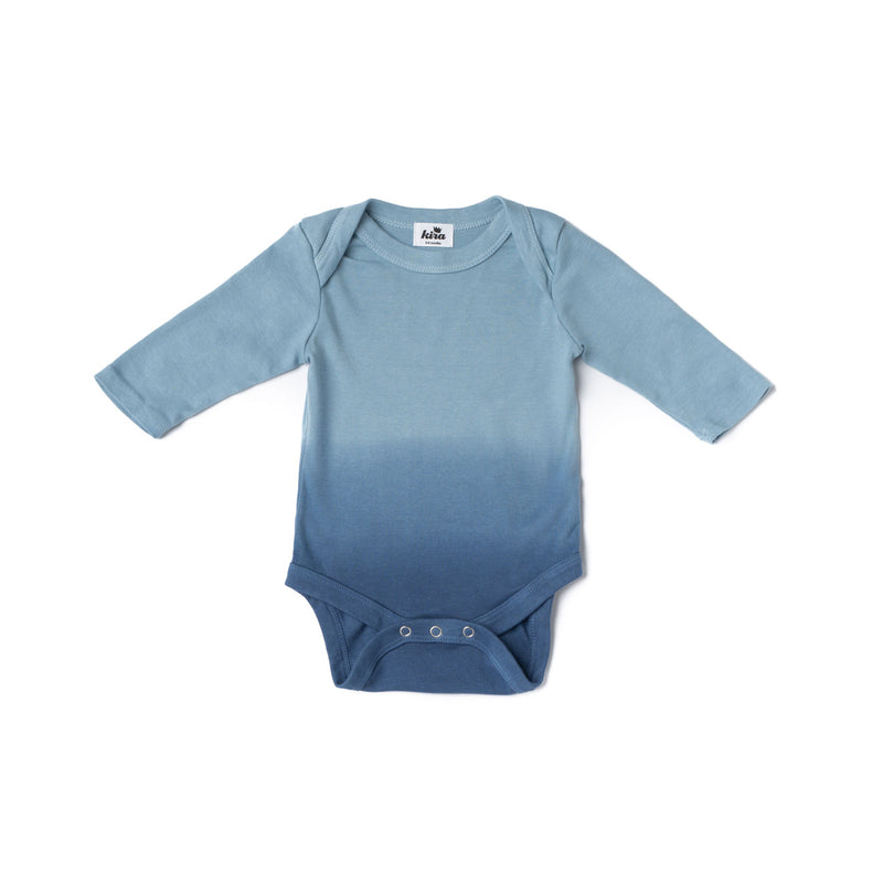 Blue Ombre Long Sleeve Onesie