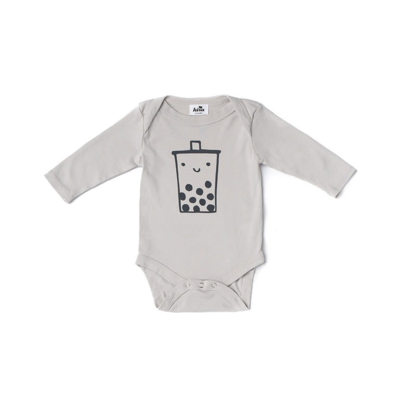 Boba Guy Long Sleeve Onesie, Light Grey