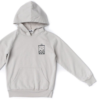 Boba Guy Hoodie with Pockets, Light Grey