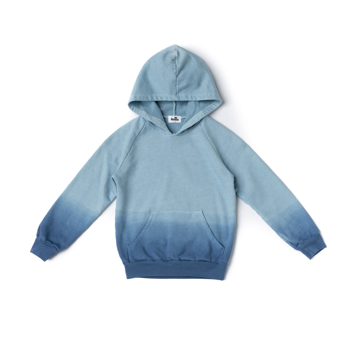 Blue Ombre Tie Dye Hoodie with Pockets