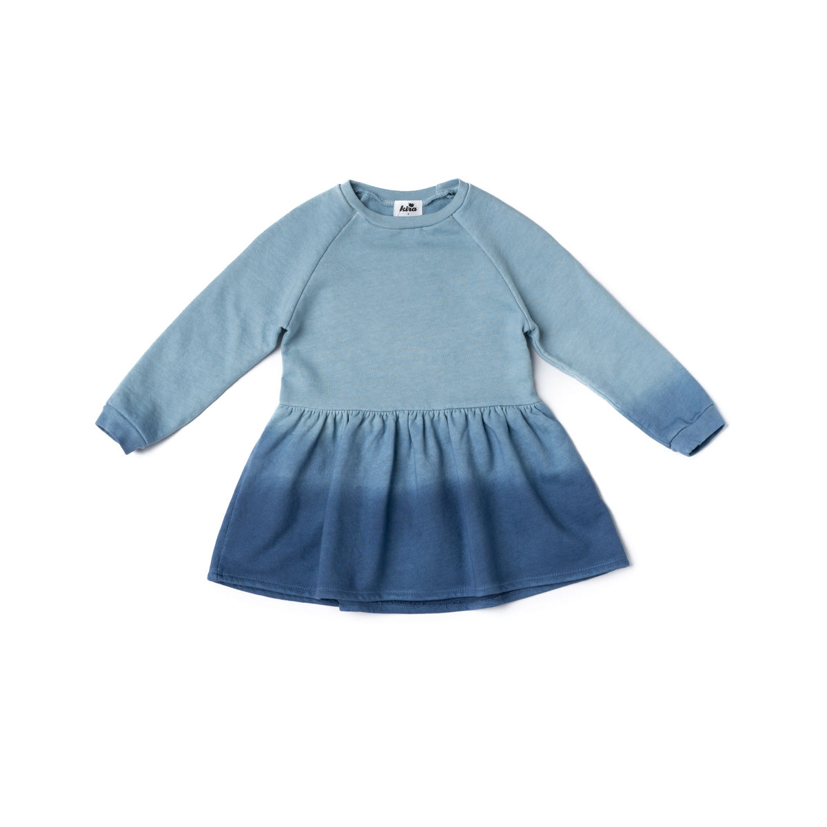 Blue Ombre Tie Dye Sweatshirt Dress