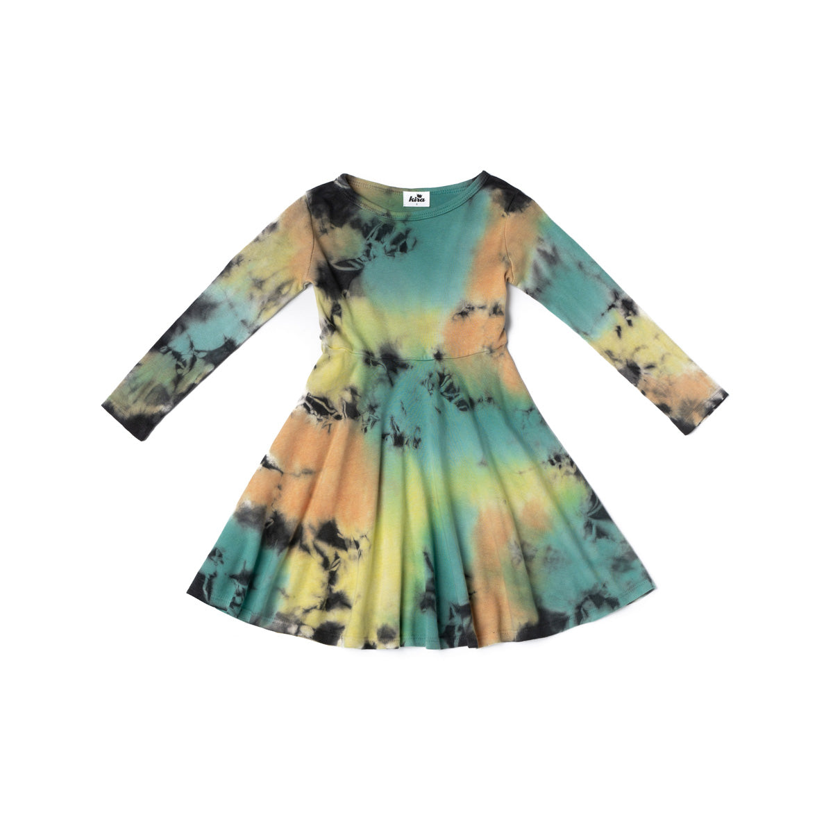 Stormy Tie Dye Long Sleeve Skater Dress