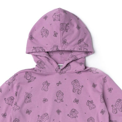 Women's Poodle Hoodie, Grape