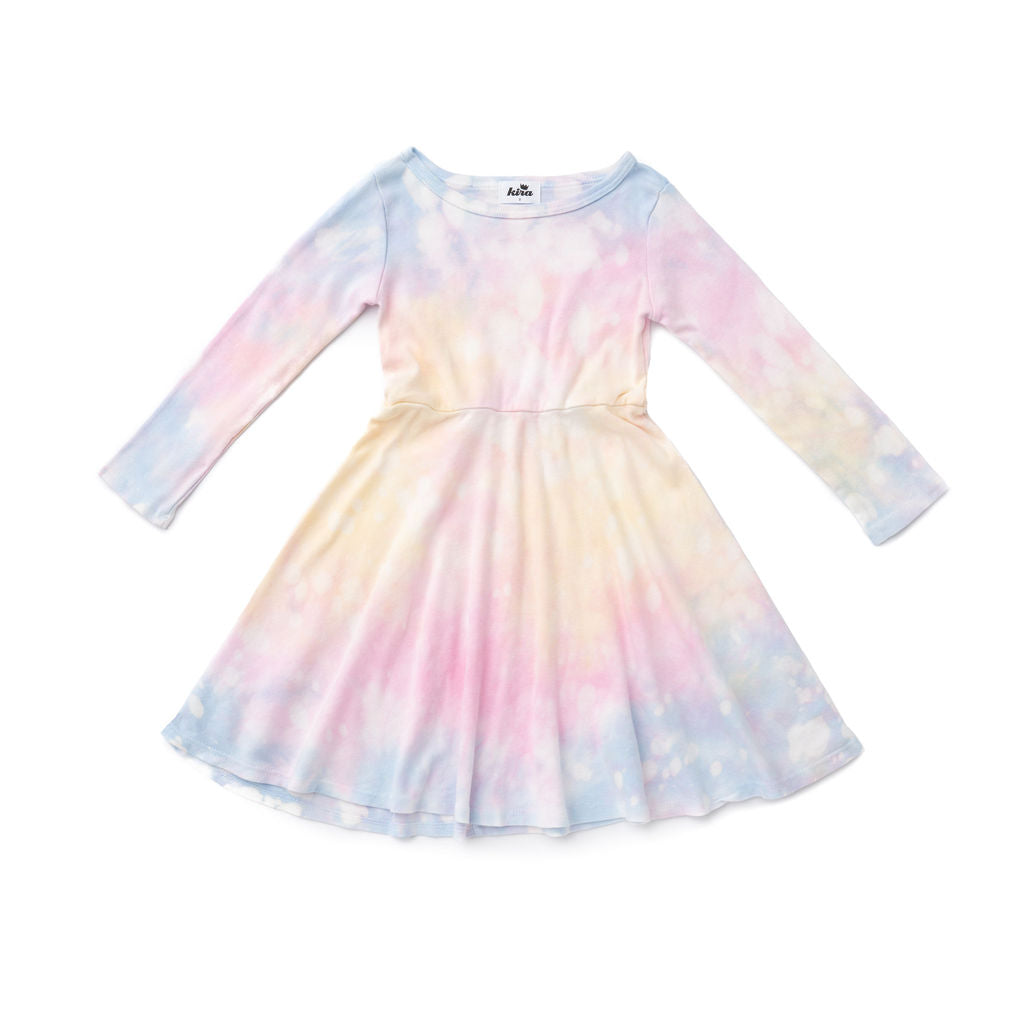 Shave Ice Tie Dye Long Sleeve Skater Dress