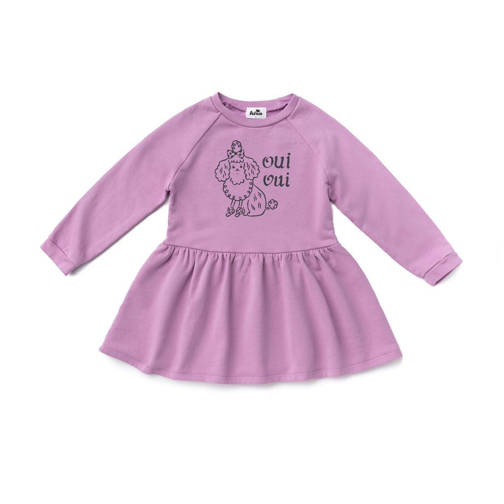Oui Oui Sweatshirt Dress, Dusty Grape
