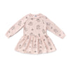 Poodle Sweatshirt Dress, Powder Pink