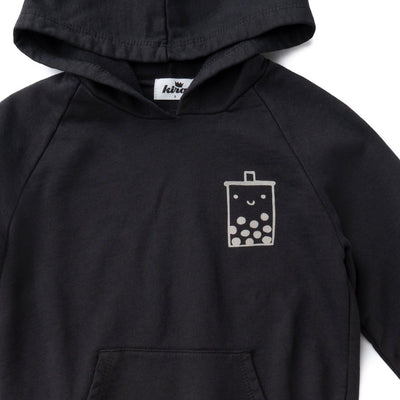 Boba Guy Hoodie with Pockets, Charcoal
