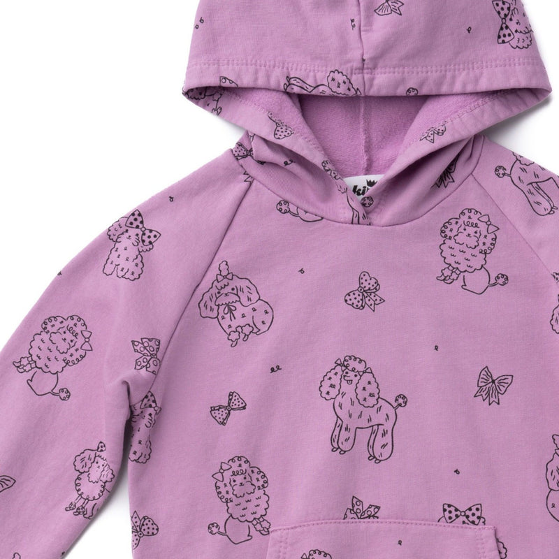 Poodle Hoodie with Pockets, Grape
