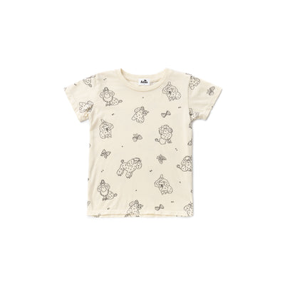 Poodle Short Sleeve T-shirt, Natural