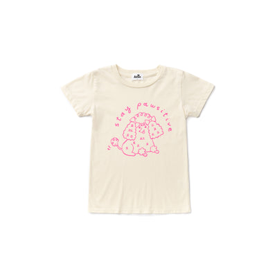 Stay Pawsitive Short Sleeve T-shirt, Natural