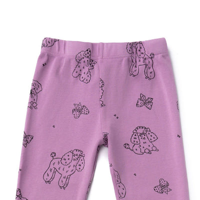 Poodle Leggings, Grape