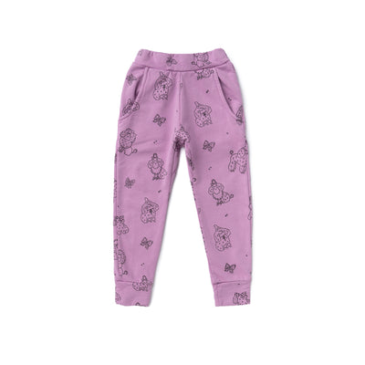 Poodle Jogger Pants, Grape