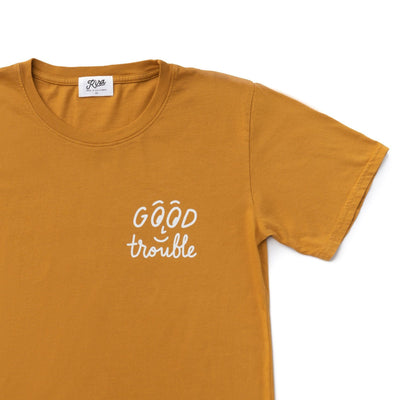 Adult Good Trouble T-shirt, Earth Brown