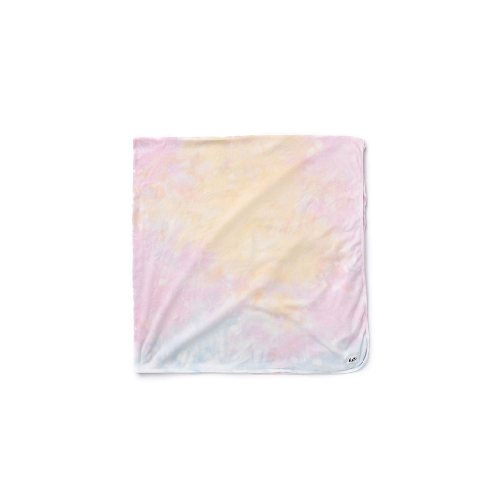 "Shave Ice Tie Dye Swaddle Blanket 47""X47"""