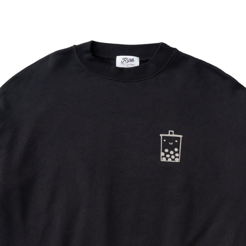 Adult Boba Guy Crew Neck Sweatshirt, Charcoal