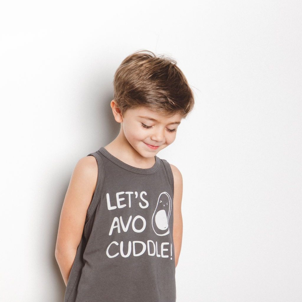 Let's Avo Cuddle Unisex Tank, Slate Grey
