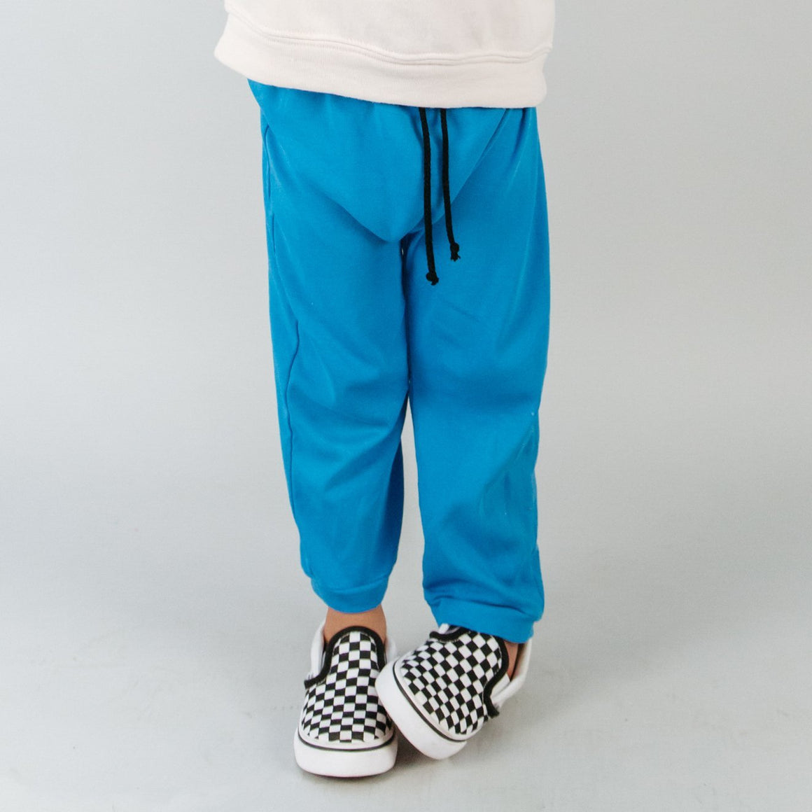 Harem Pants, Baby Rib, Blue