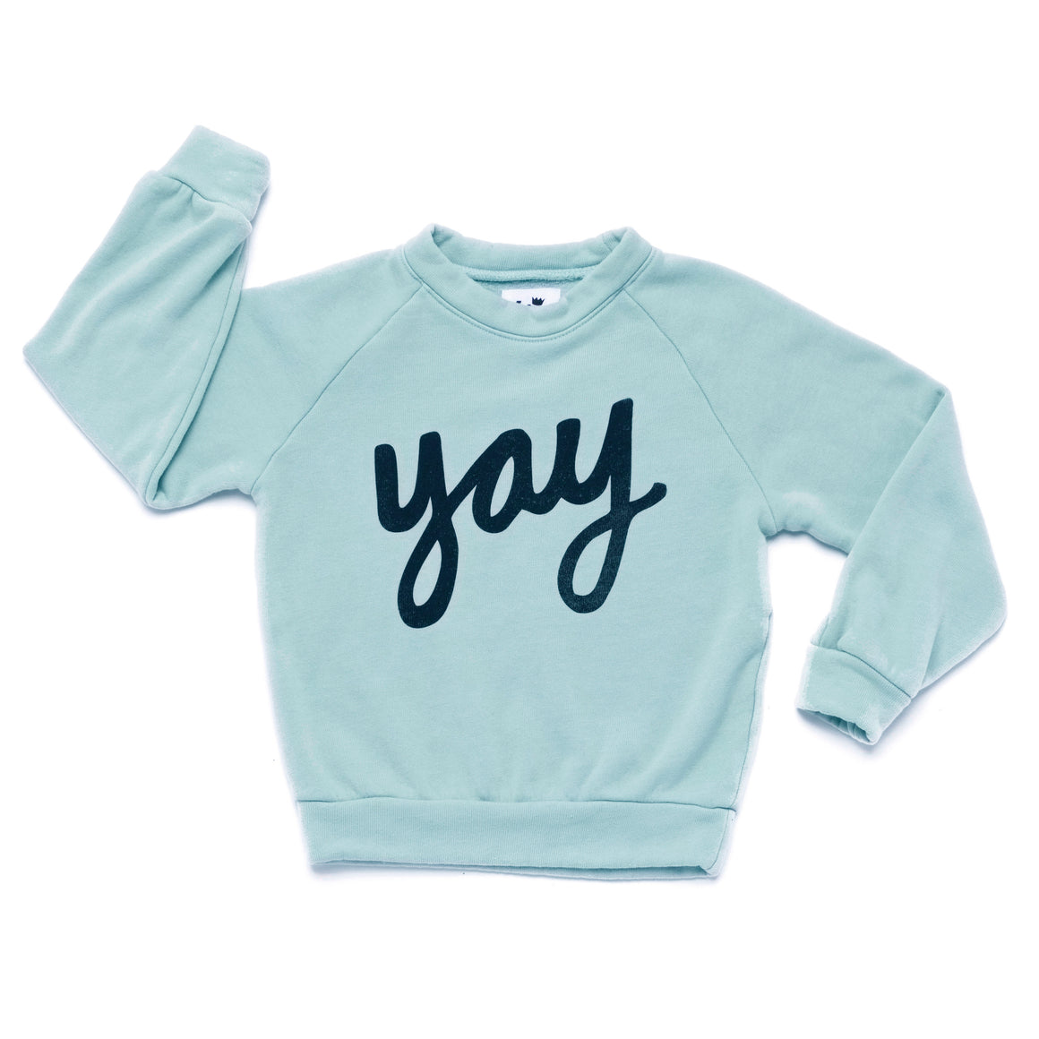 Yay Graphic Raglan Sweatshirt, Ice