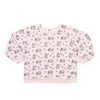 Sloth Print Raglan Sweatshirt, Powder Pink