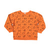 Sloth Print Raglan Sweatshirt, Copper