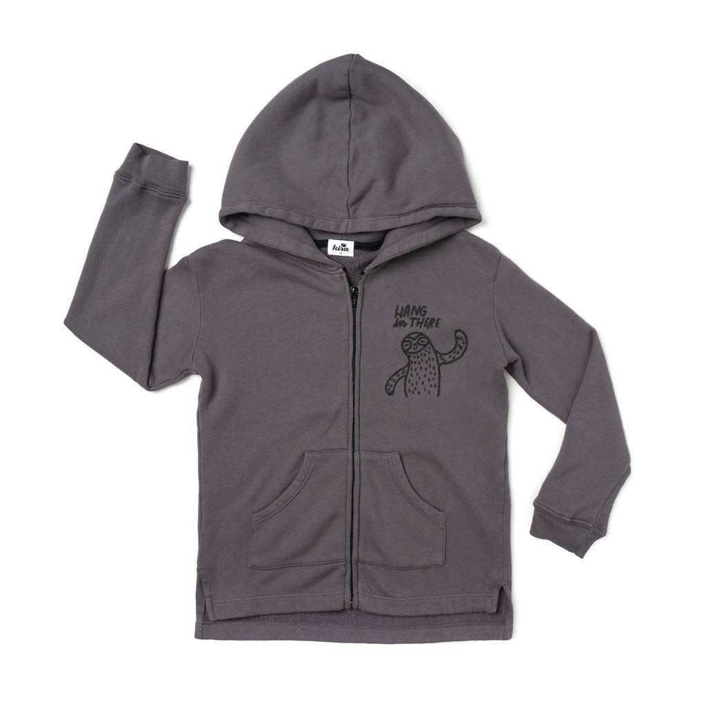 Hang in There Graphic Zip Hoodie, Slate