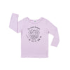 Fur-ends Graphic T-shirt, Long Sleeve, Pastel Violet