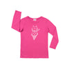 Cat Cone Graphic T-shirt, Long Sleeve, Rose Pink