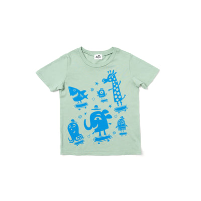 Brady Smith x Kira Skater Zoo Graphic T-shirt, Celadon