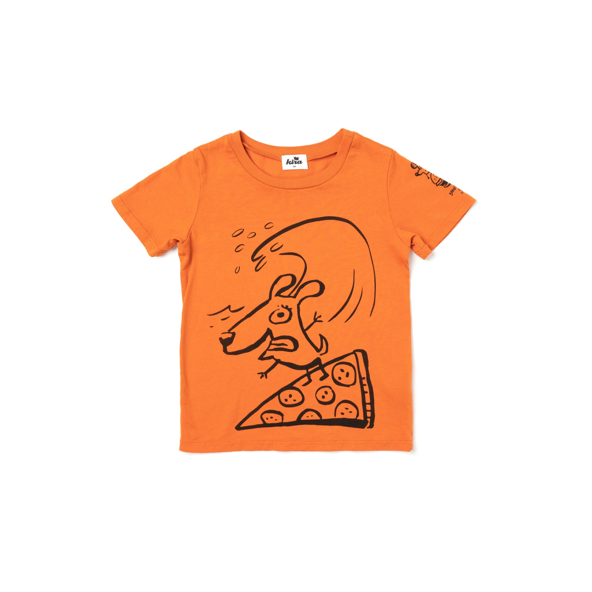 Brady Smith x Kira Pizza Surfer Graphic T-shirt, Copper