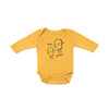 Bread Guys Graphic Onesie, Long Sleeve, Golden