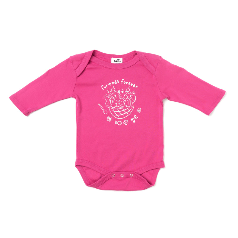Fur-ends Graphic Onesie, Long Sleeve, Rose Pink