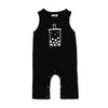 Boba Graphic Tank Jumpsuit, Black