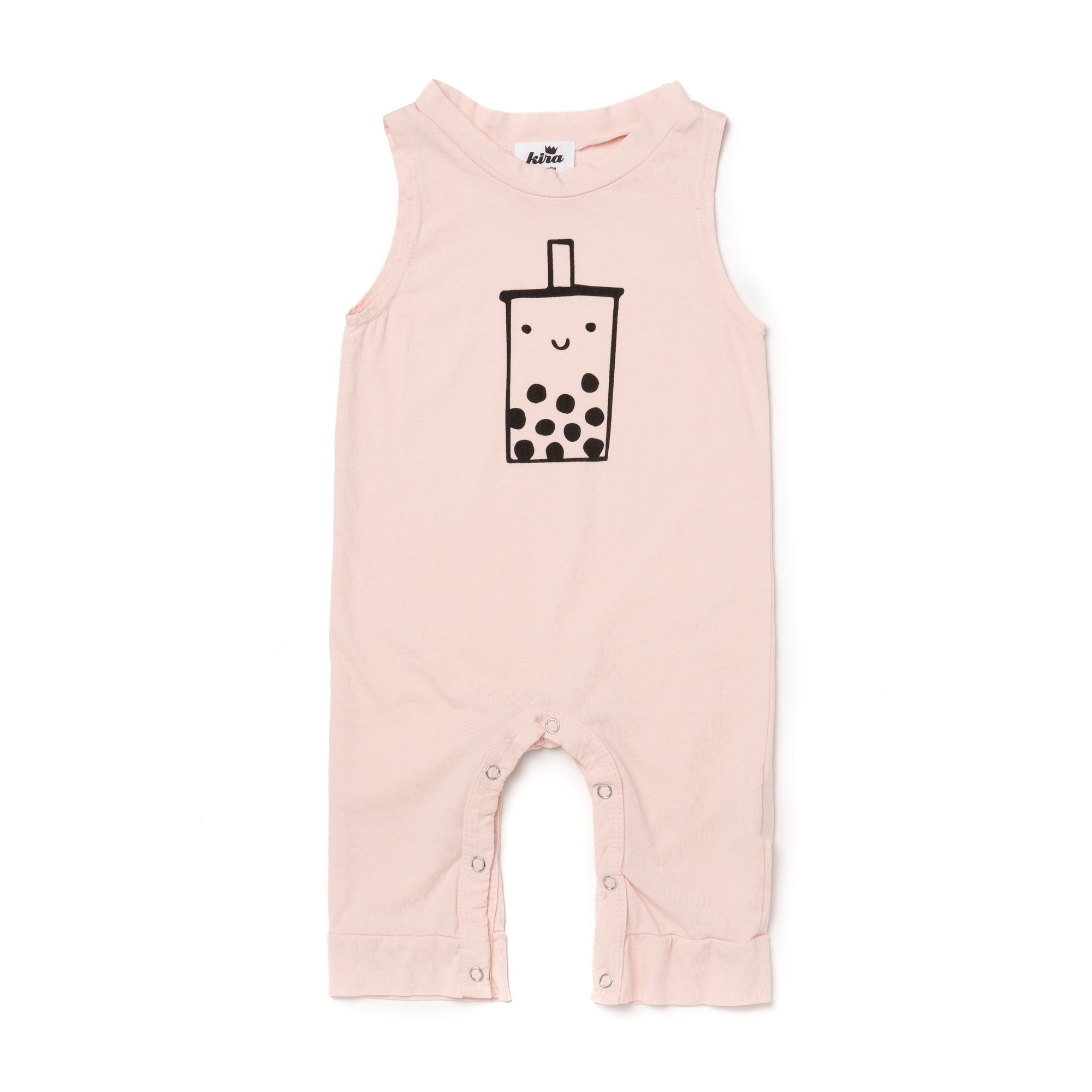 Boba Graphic Tank Jumpsuit, Powder Pink