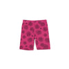 Daisies Print Bike Shorts, Rose Pink