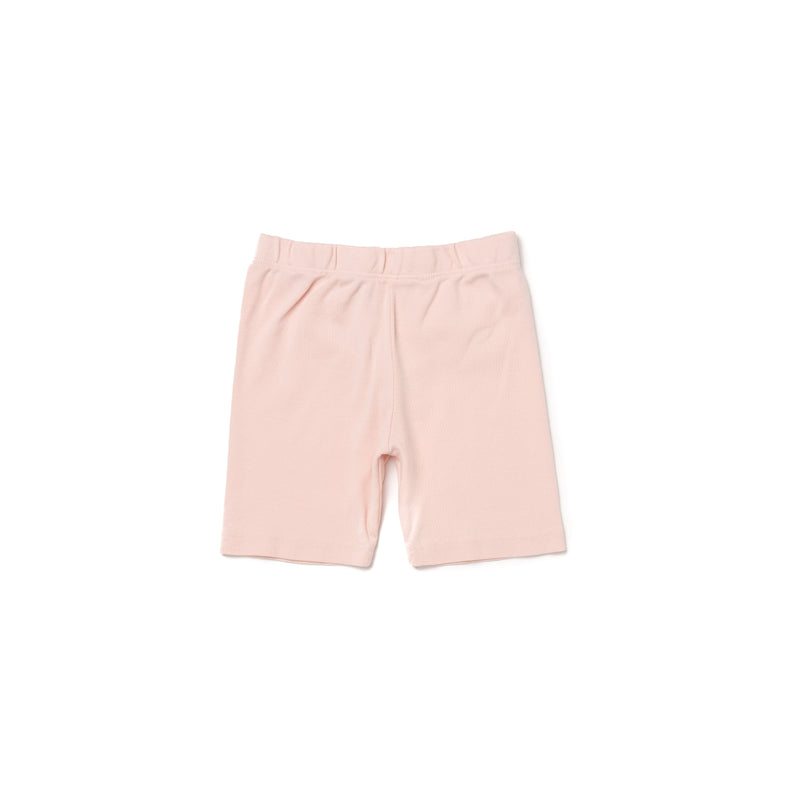 Organic Cotton Bike Shorts, Powder Pink
