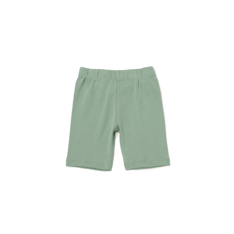 Organic Cotton Bike Shorts, Celadon