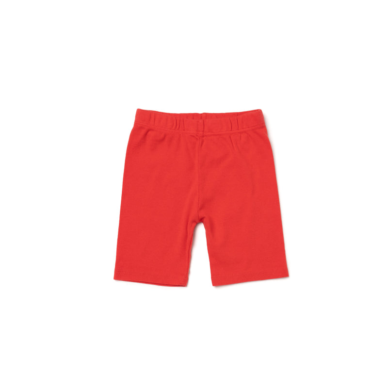 Organic Cotton Bike Shorts, Fluro Coral