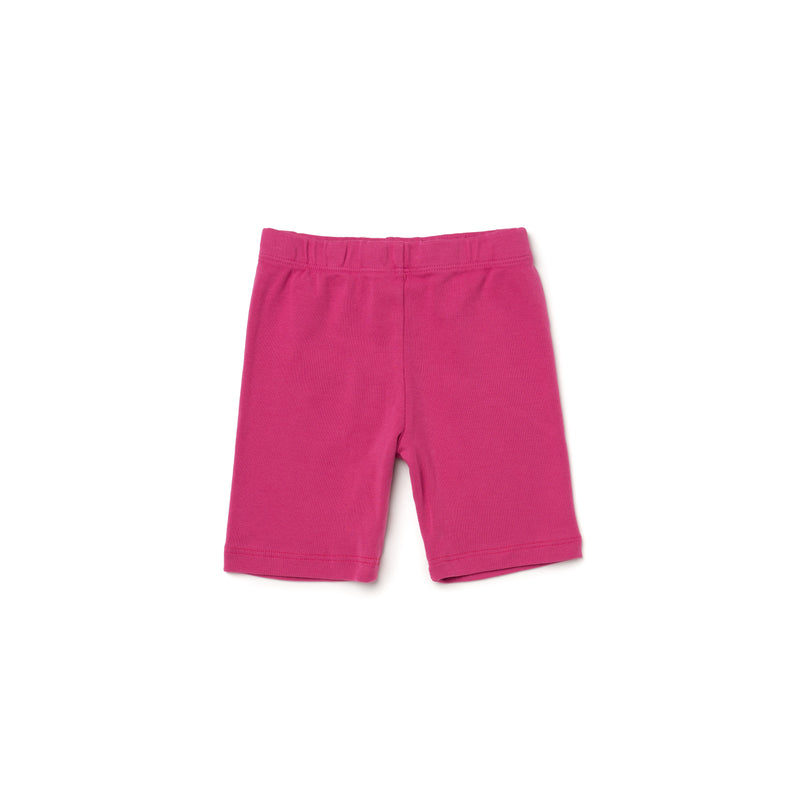 Organic Cotton Bike Shorts, Rose Pink