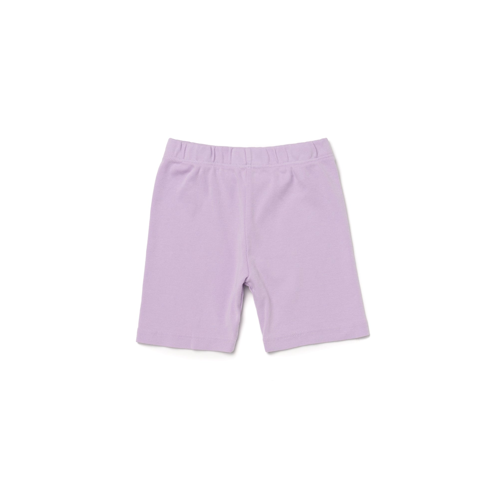 Organic Cotton Bike Shorts, Pastel Violet