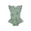 Octopus Print Dress Onesie, Celadon