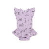 Surf Shark Print Dress Onesie, Pastel Violet